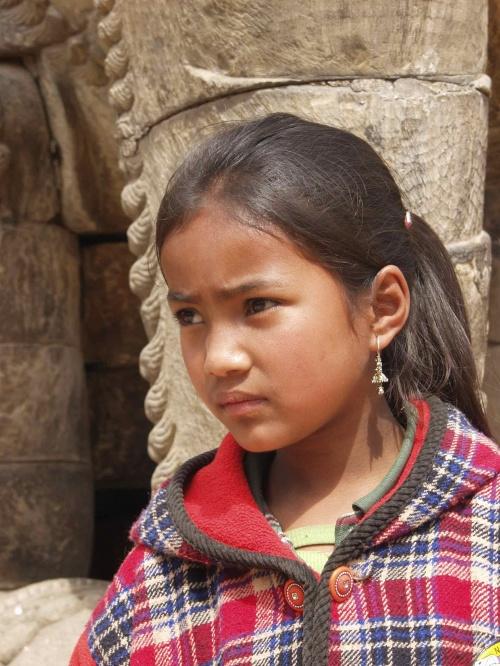 Школьница. Бхактапур.