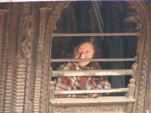 Жительница Бхактапура.