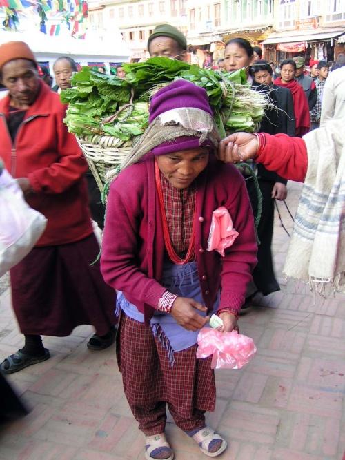 Продавщица зелени... пучок - 2 рупии... :)