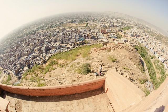 Планета Индия: вид с Monkey Palace, Джайпур