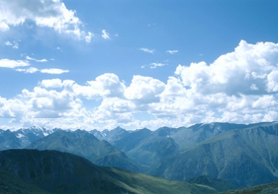 Панорама с перевала Кара-Тюрек