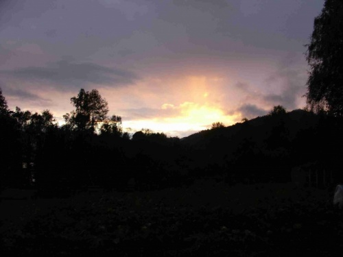 Вот такие закаты в горах