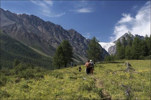 Долина Актру - путь древнего ледника.