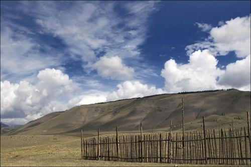 Горный Алтай. Курайская степь.