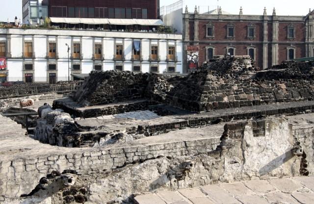 Храмовый комплекс Templo Mayor, построенный ацтеками в 1375 г