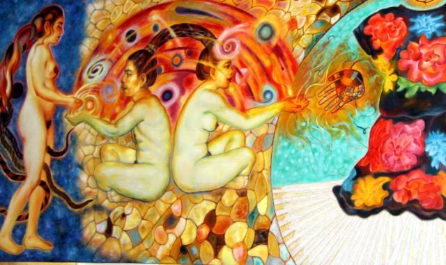 Муральные картины Артура  Бустоса, ученика  Фриды Кало.