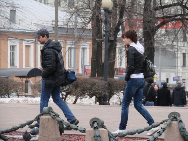 и весна! Москва раздевается!