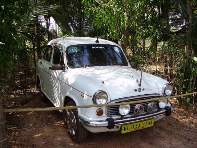глазастая гордость керальского таксиста, застигнутая в Гокарне. кстати на носу - антенна без чехла