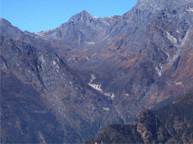 Вид на перевал Лаурибинаяк из Тарепати