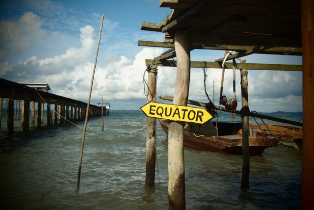 Equator at Lingga
