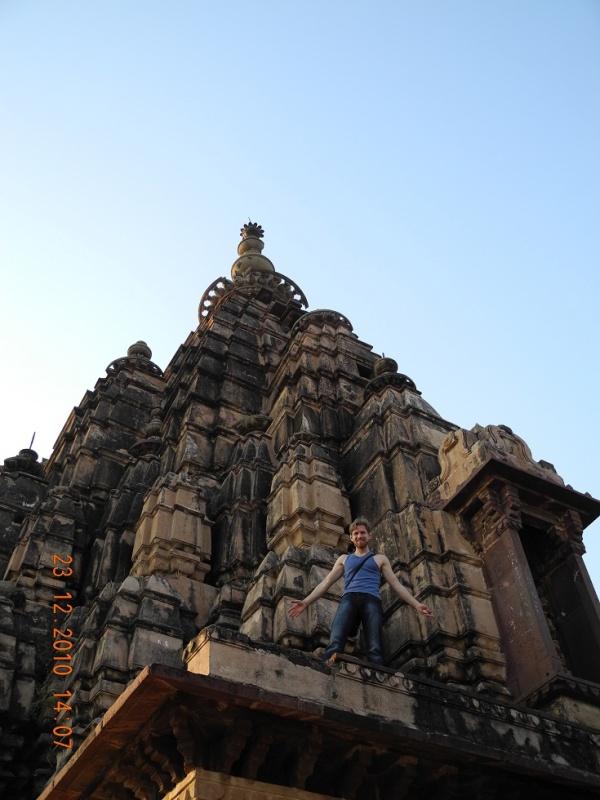 Орчха,на крыше храма