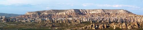 предзакатная панорама, вид со смотровой в Гёреме
