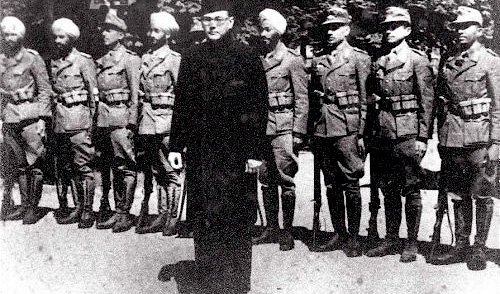 Indian Waffen SS Legion soldiers and their leader - Chandra Bose