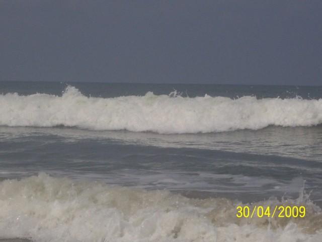 волны и течение были зверские