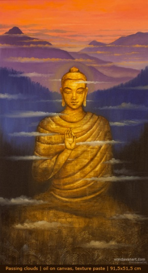 Будда.Проплывающие облака.