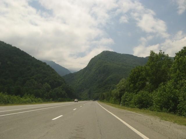 Въезд в Алагирское ущелье - начало дороги на Цхинвал и Цейское ущелье