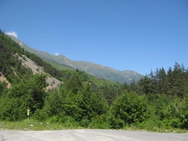 Дорога вниз - на Транскам к Бурону