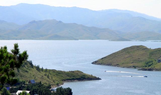 Голубой залив на Бухтарминском вдхр.
