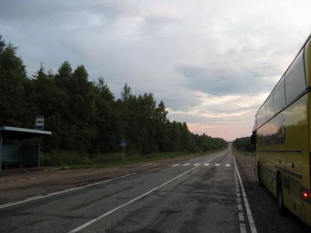 """примерно 265 км трассы М9 """"Балтия"""" - Новорижского шоссе (http://ru.wikipedia.org/ wiki/Балтия_(автодорога))"""