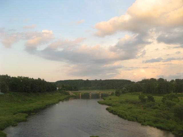 Мост через р. Вазуза, у её впадения в Волгу, г. Зубцов, Тверская Область