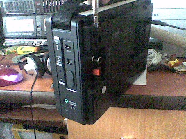 Радиоприемник Tecsun BCL 3000. Вид с боку.