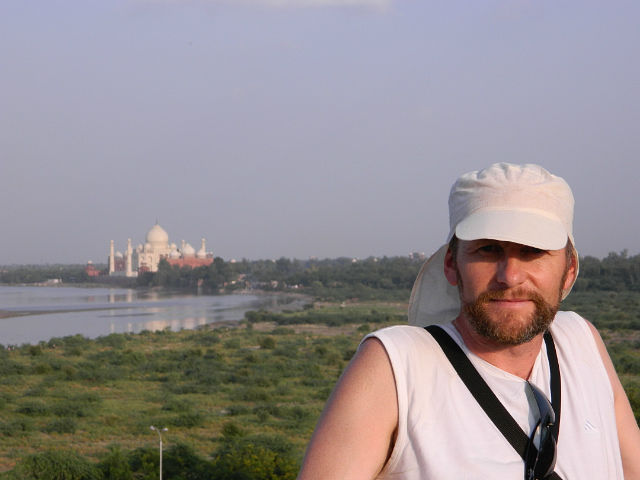 Вид на Тадж -Махал.