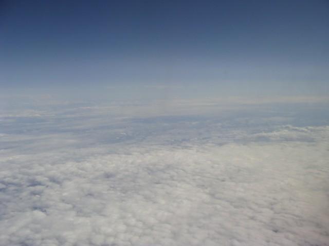 Красота из иллюминатора самолёта.