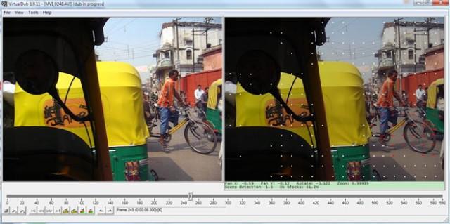 VirtualDub первый проход анализ видео