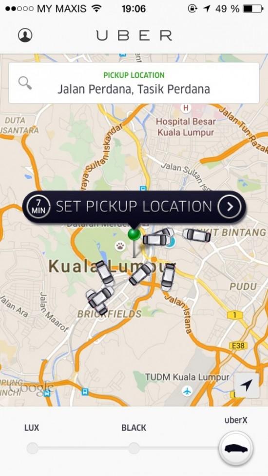 Убер в Куала-Лумпуре