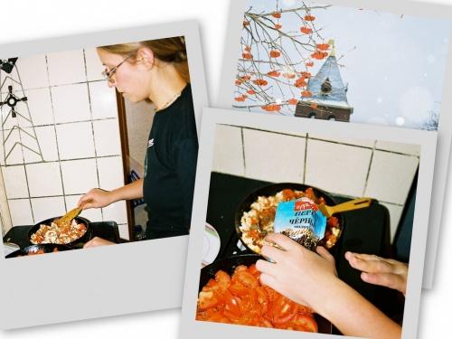 На кухне шипело, шкварчало, а Штенка ворожила над сковородкой...