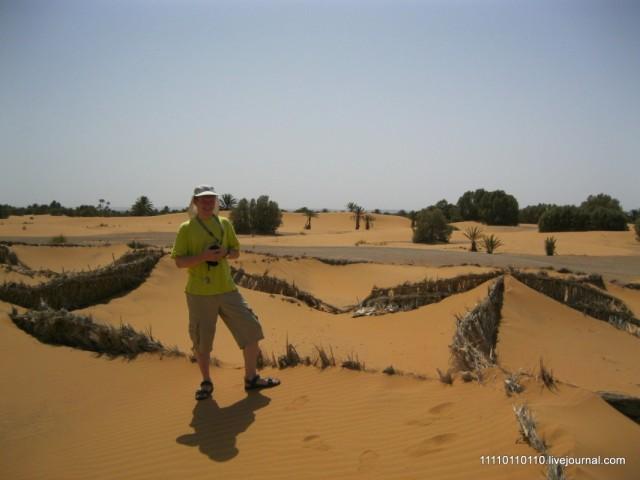 Пескоуловители около деревни