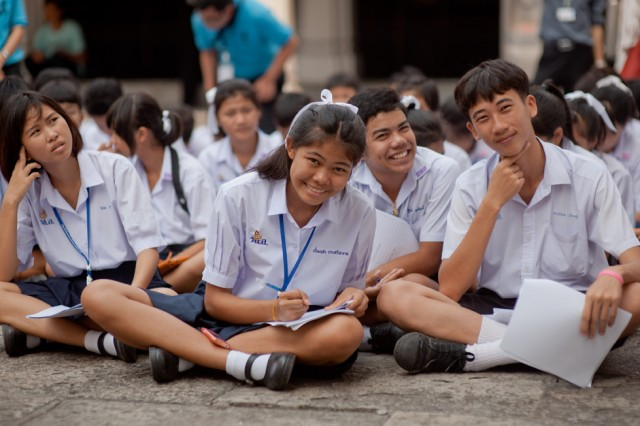 thailand education essay Goods are sold from boats at a floating market in thailand then they may attend high school for another six years, but their families must pay for the education.