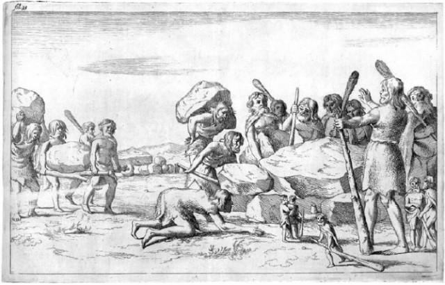 """""""Гиганты строят Хуннебед, а обычные люди за этим наблюдают"""" (Picardt, 1660 год)"""