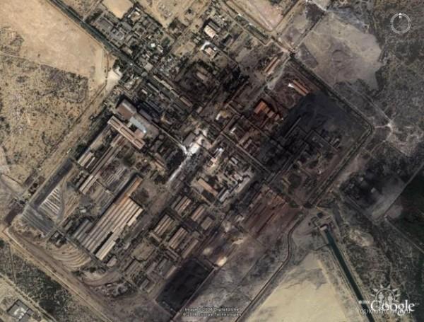 завод Пакстил - спутниковое фото