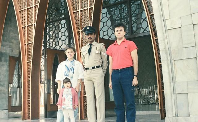 мы со старшим караульным возле мавзолея