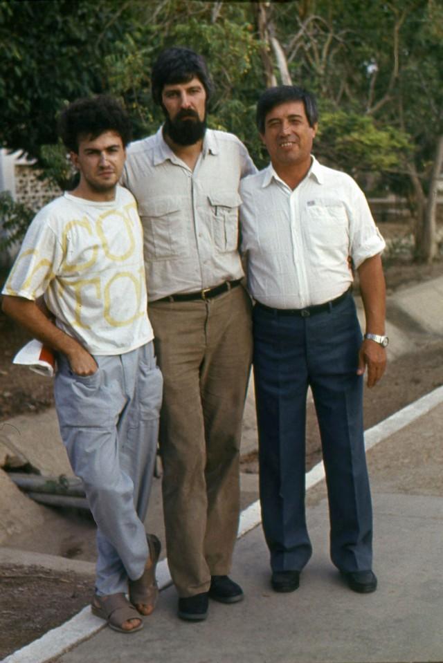 Я, В_Карюков и С_Умаров (слева направо)