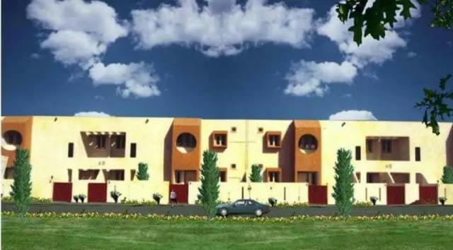 Модель дома в городке, нарисованная в наше время.