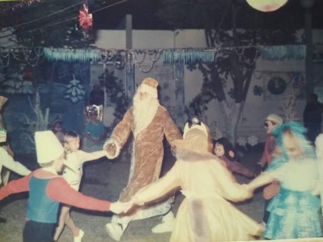 Я Дед Мороз в школе 1986 НГ
