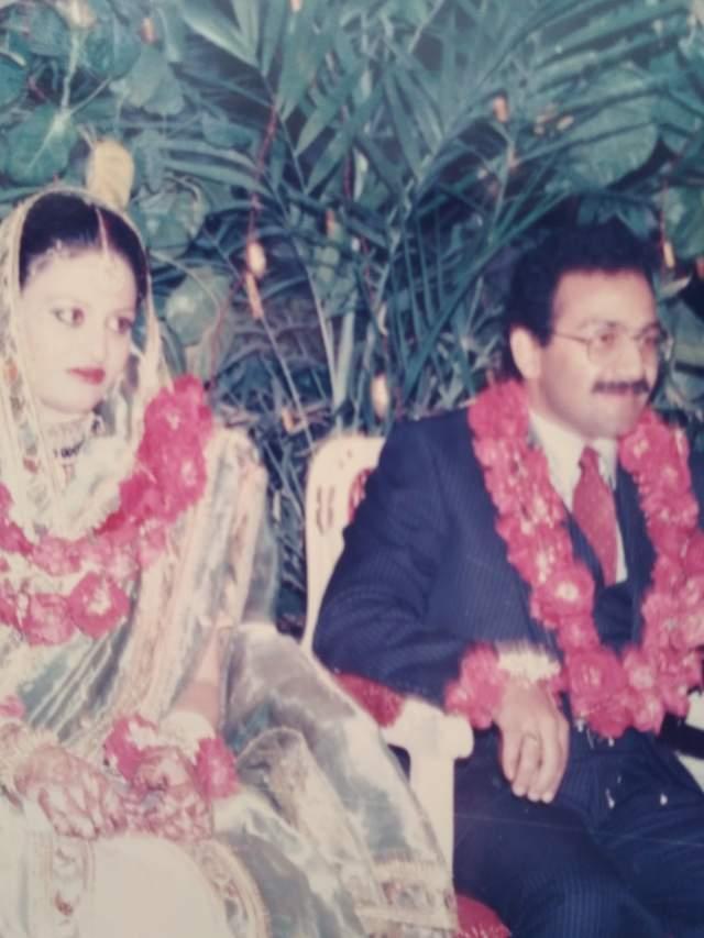 Пакистанская свадьба, жених с невестой