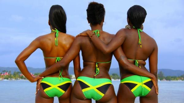 в цвета нац флага Ямайки