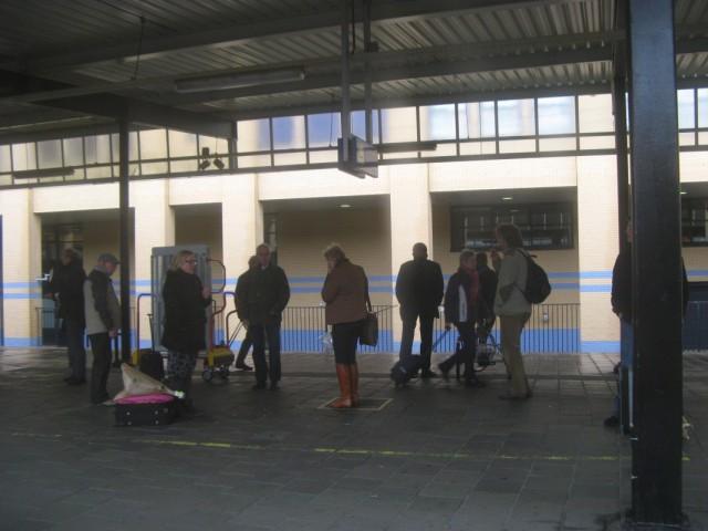 Загон для курильщиков на станции Amersfoort