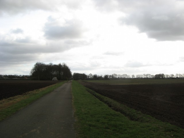 Дорога к рощице и дольменам от N 381 до Ноорд-Слеена