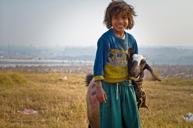 девочка с козой
