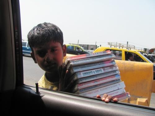 уличный книготорговец