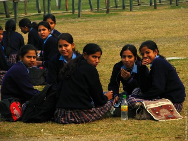 Пикник у школьниц