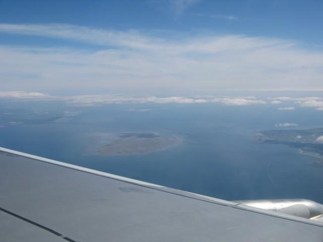 Датский остров Saltholm, граница Швеции (слева) и Дании (справа)