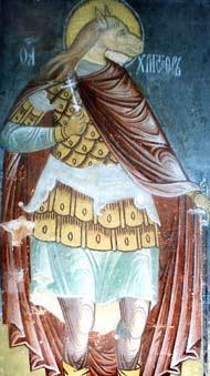 Святой Христофор. Фреска из Успенского Собора острова Свияжск