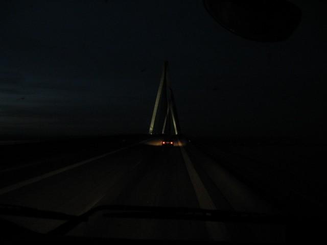На подъезде к мосту Южный Фарё