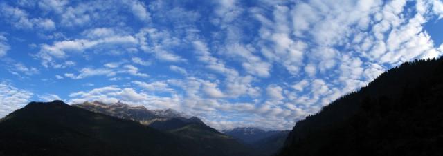 над нами только горы и небо