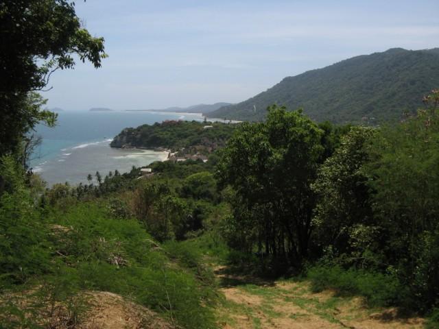 В принципе, юго-запад Ко Пангана и с полпути неплохо видно, но...